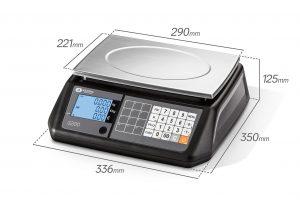 заверена електронна везна S200B размери
