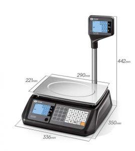 заверен електронен кантар S200L размери